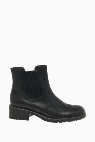 Gabor Imagine Black Tucson Leather Fashion Ankle Boots