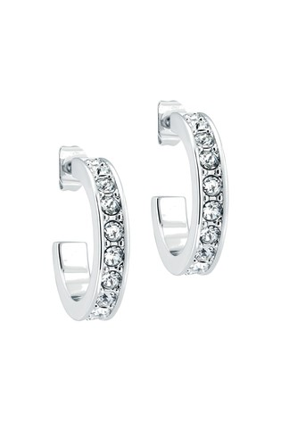 Ted Baker Metallic Seanna Small Crystal Hoop Earrings