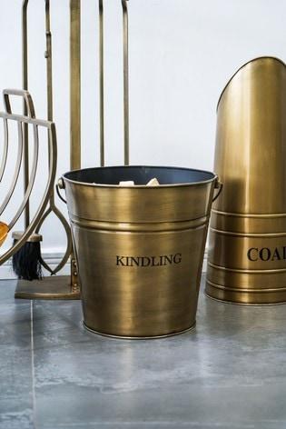 Antique Gold Kindling Bucket by Ivyline