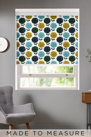 Hydrangea Jade Blue Made To Measure Roller Blind by Orla Kiely