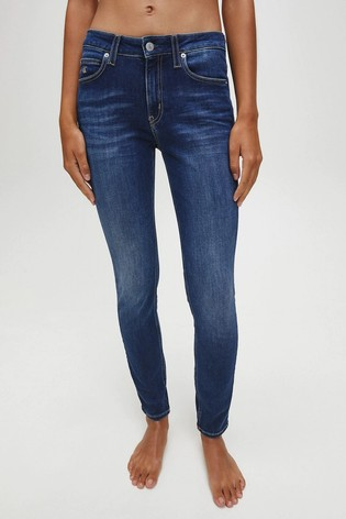 Calvin Klein Jeans Blue Mid Rise Skinny Jeans