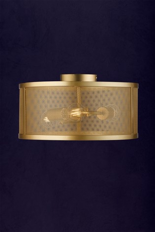 Chantilly 3 Light Drum Flush Fitting by Searchlight