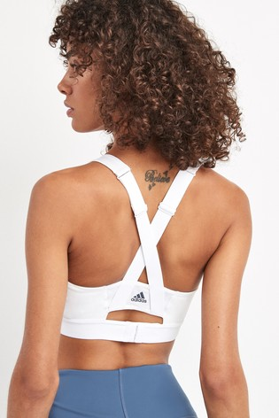 adidas White Don't Rest Perfect Fit Bra