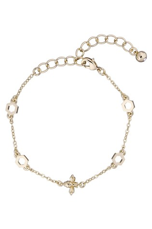 Ted Baker Metallic Beddia Bumble Bee Chain Bracelet