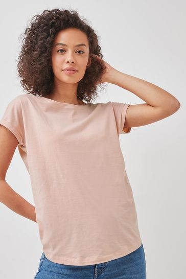 Light Pink Cap Sleeve T-Shirt