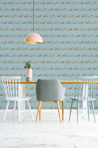 Fresco Tweeting Wallpaper by Art For The Home