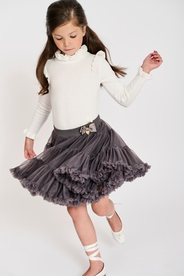 Angel's Face Grey Pixie Tutu Skirt