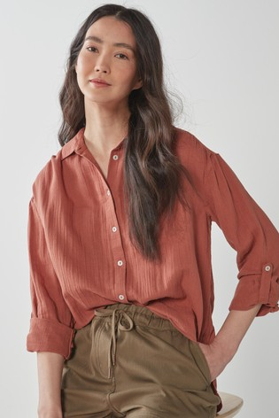 Rust Double Cloth Shirt