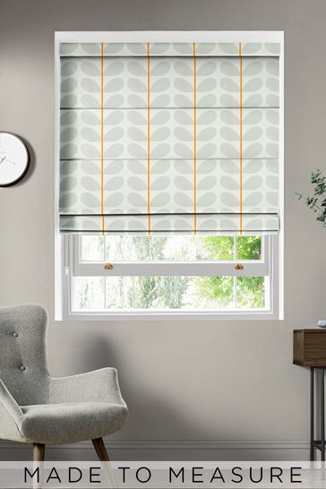 Two Colour Stem Warm Grey Made To Measure Roman Blind by Orla Kiely