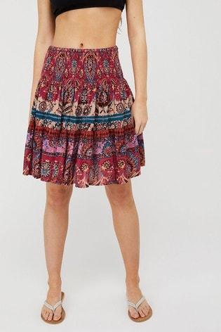Monsoon Pink Tamalia Print Skirt