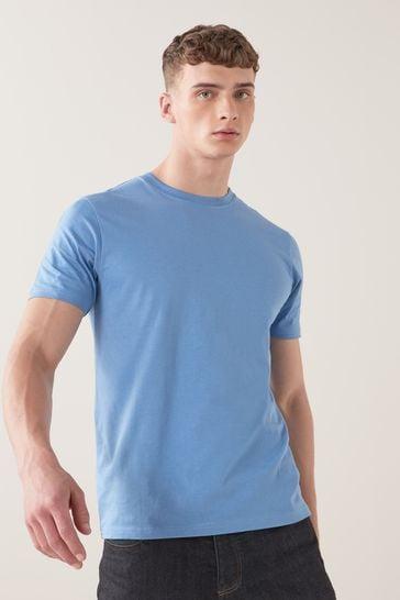 Pale Blue Regular Fit Crew Neck T-Shirt