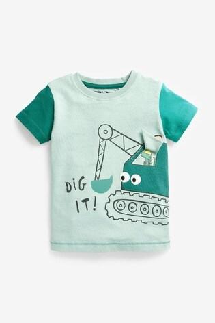 Blue Digger Appliqué T-Shirt (3mths-7yrs)