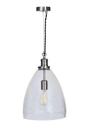Hoxton Bullet Pendant Light by Garden Trading