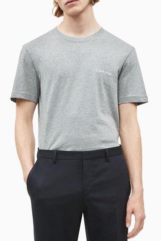 Calvin Klein Grey Chest Logo T-Shirt