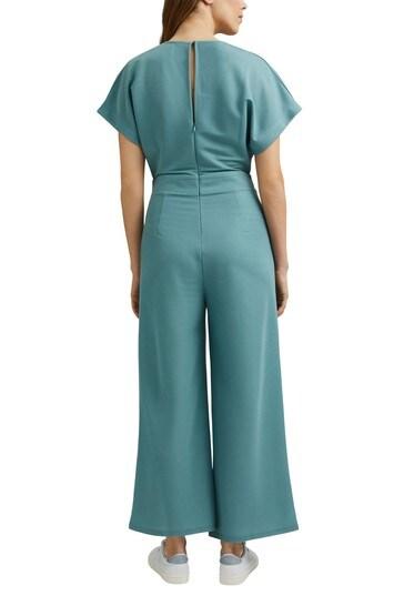 Esprit Blue Knit Jumpsuit