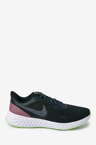 Nike Run Black/Pink Revolution 5 SE Trainers