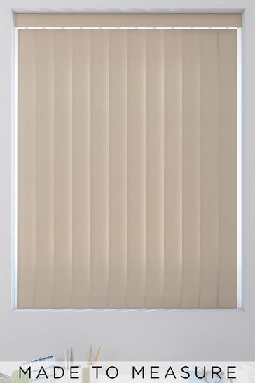 Canvas Putty Natural Made To Measure Vertical Blind