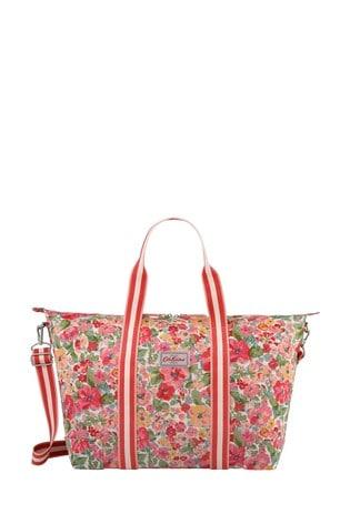 Cath Kidston Cream Small Painted Bloom Foldaway Overnight Bag