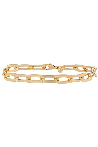 Accessorize Gold Plated Large Link Chain Bracelet