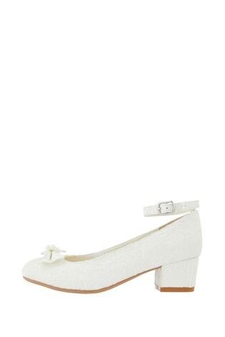 Monsoon Lara Shimmer Lace Ivory Shoes