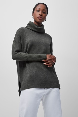 French Connection Green Babysoft Cowl Neck Jumper