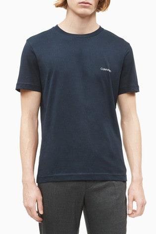 Calvin Klein® Blue Chest Logo T-Shirt