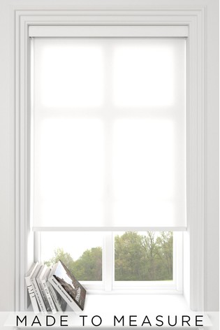 Asher Paper White Made To Measure Light Filtering Roller Blind