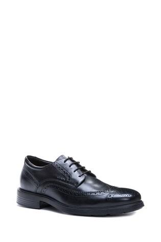 Geox Mens Dublin Black Shoes