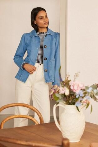 Boden Blue Pocket Detail Jacket