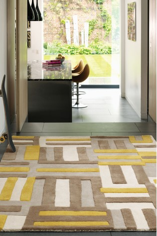 Matrix Squares Wool Rich Rug by Asiatic Rugs