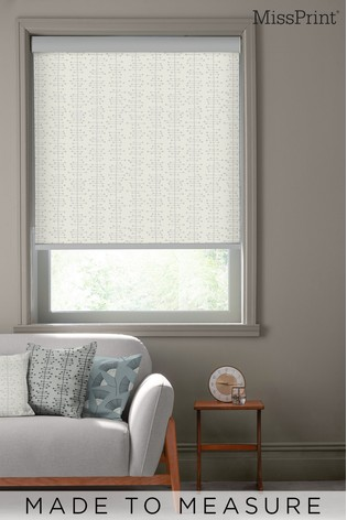 Muscat Small Moonstone Grey Made To Measure Roller Blind by MissPrint