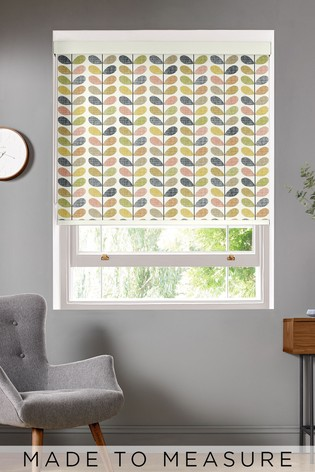 Scribble Stem Multi Blue Made To Measure Roller Blind by Orla Kiely