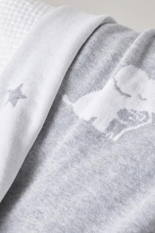The White Company Grey Kimbo Star Blanket