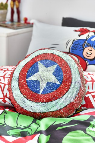 Red Marvel Sequin Cushion