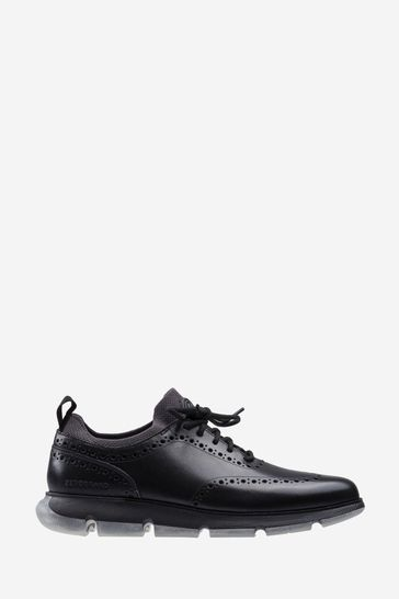 Cole Haan Black Zerogrand Oxford Lace Shoes