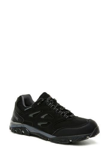 Regatta Black Holcombe Low Junior Walking Shoes