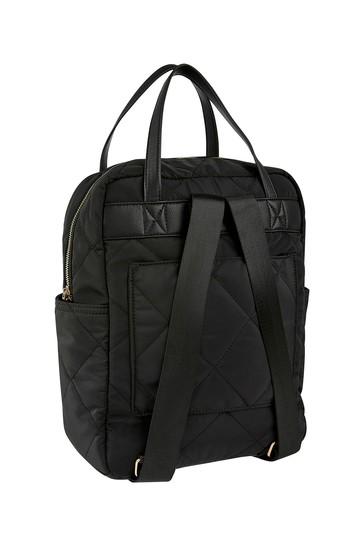 Accessorize Black Emmy Quilted Backpack