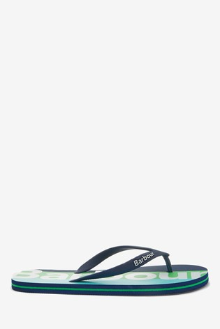 Barbour® Green Stripe Beach Sandals