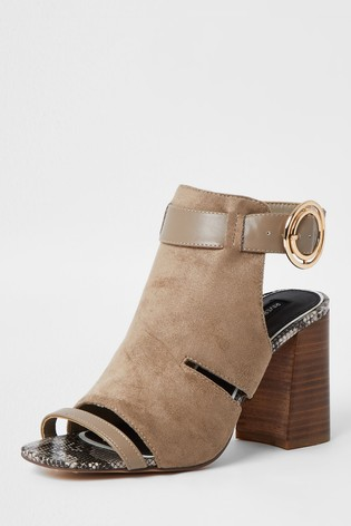 River Island Grey Cut Out Shoe Boots