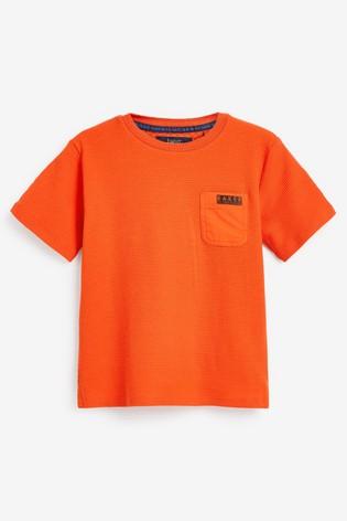 Baker by Ted Baker Older Boy Waffle Orange T-Shirt