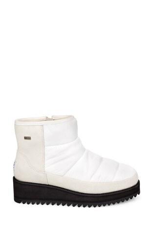 UGG® White Mini Ridge Boots