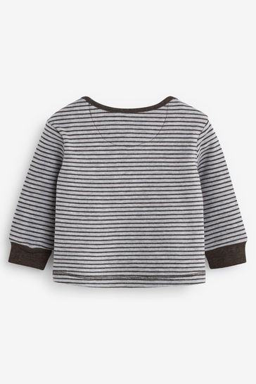 The Little Tailor Grey Print Rocking Horse Jersey Top