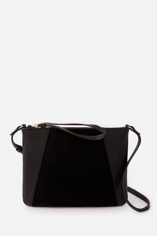 Accessorize Black Sophie Leather Cross Body Bag