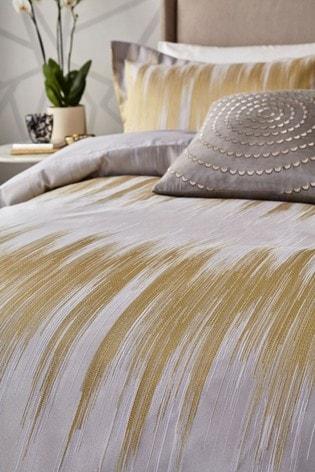 Harlequin Gold Motion Ikat Cotton Duvet Cover