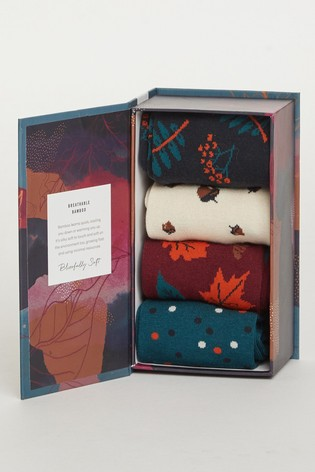 Thought Autumn Leaves Sock Box