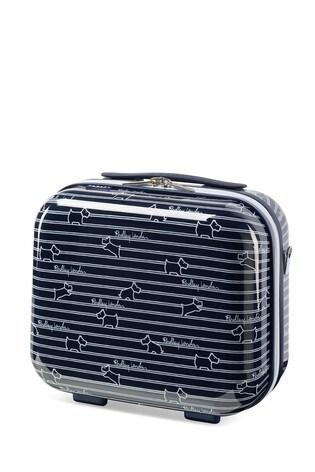 Radley Dog Stripe Hard Shell Vanity Case