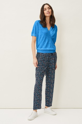 Phase Eight Blue Hermione Ditsy Floral Soft Joggers