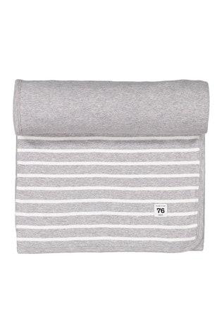 Polarn O. Pyret Grey Organic Cotton Striped Blanket