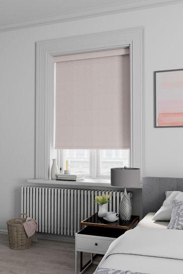 Arden Mist Pink Made To Measure Blackout Roller Blind