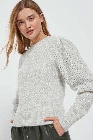 Grey Soft Textured Jumper